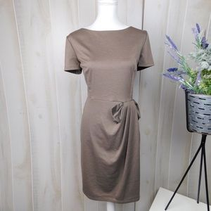 David Meister Brown Bow Sheath Dress